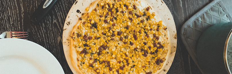 Mexican corn pizza, homemade thin crust pizza easy to make